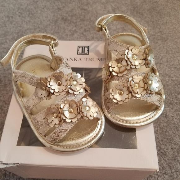 f6b4c1aeefe85d Ivanka Trump Other - Ivanka Trump baby girl gold gladiator sandals SZ 4